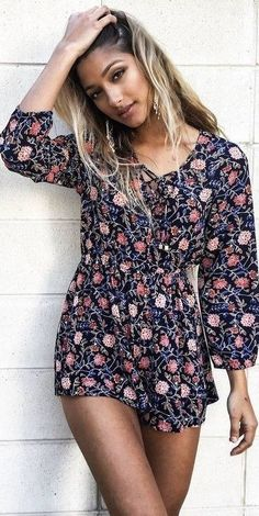 #summer #mishkahboutique #outfits   Floral Romper