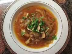 Caramelized Onion and Mushroom Soup