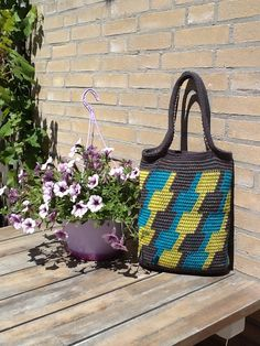 Tapestry crochet bag by Plume