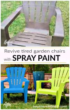 Paint Plastic Outdoor Chairs In 2020