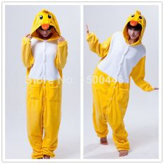 nice Winter season Bamboo Pajamas Just about all In a single Pyjama Fits Yellow-colored Duck Cosplay Outfits Grownup Unisex Adorable Animation Pet Onesie Pajamas S-XL