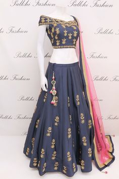 Lehenga designs by Palkhi Fashion. Recreate your closet with designer lehengas and ghaghras from famous indian designers in India. Indian Fashion Dresses, Indian Gowns Dresses, Dress Indian Style, Girls Fashion Clothes, Indian Designer Outfits, Clothes For Women, Indian Designers, Long Dresses, Indian Wedding Outfits