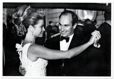 Princess Grace of Monaco dances with Karim Aga Khan in Monte Carlo, 1966 | Vanity Fair