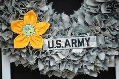 Army ACU Wreath by HunnieBearCrafts on Etsy, $50.00