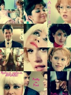 Pretty in Pink Fan Art: Pretty in Pink Collage Awesome Movies, Good Movies, Favorite Movie Quotes, Favorite Things, Jon Cryer, Brat Pack, 80s Aesthetic, Weird Science, 80s Movies