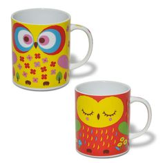 Owl Mug Warm Set Of 2