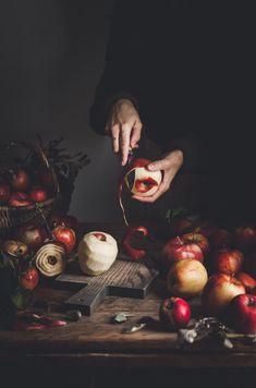 Pie + Pecans & Bourbon Caramel -Apple Pie + Pecans & Bourbon Caramel - cherry tomatoes by Binjal pandya on