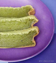 Matcha Mochi Cake (milk, sugar, eggs, oil, matcha, rice flour ==> mochi cake!)