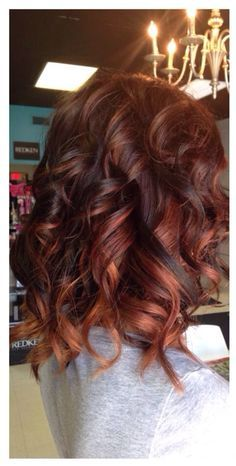auburn copper ombre. I really like to change my hair color!!