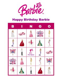Barbie Doll Personalized Birthday Party Game Bingo Cards Delivered by Email Barbie Party Games, Barbie Theme, 6th Birthday Parties, 7th Birthday, Birthday Ideas, Kid Parties, Birthday Games, Bingo Cards, Spa Party