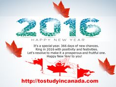 This New Year we wish for you is to Dream Big, but be satisfied with the simple blessings that life has gifted you with; to make mighty plans for the future, but never to ignore the little joyous moments of the present. Wish you a Very Happy New Year-2016. http://goo.gl/fAKbBN ‪#‎tostudyincanada‬ ‪#‎Newyear‬ ‪#‎Education‬ ‪#‎Studyinabroad‬ ‪#‎Highereducation‬