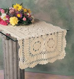 Hand Crocheted Cotton Table Runner. 16''X36'' Oval. White Color. Hand Crocheted Cotton Table Runner by WMU. $73.50. Picture may wrongfully represent. Please read title and description thoroughly.. Brand Name: WMU Mfg#: 981252. Please refer to SKU# ATR25076457 when you inquire.. This product may be prohibited inbound shipment to your destination.. Shipping Weight: 1.00 lbs. Hand Crocheted Cotton Table Runner. 16''''X36'''' Oval. White Color. This table runner is done...