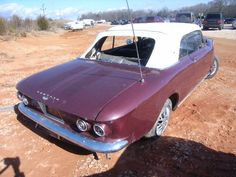 Crashed Corvair. '64 model