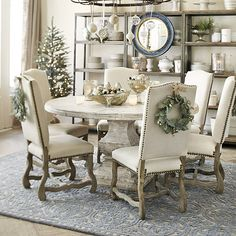 I love the idea of a wreath on the back of the chair for the holidays-- so pretty!!!  Capistrano Dining Chairs - Set of 2