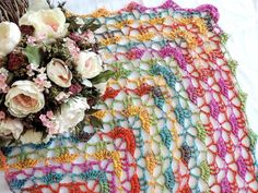 Scarf, shawl, multicolor scarf, shawl from Tahiti Batik Grundl by ColorfullmadeShop on Etsy Tahiti, Shawl, Scarves, Floral Wreath, Wreaths, Trending Outfits, Unique Jewelry, Handmade Gifts, Etsy