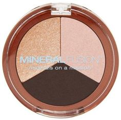 Mineral Fusion Eye Shadow Trio Espresso Gold - This Mineral Fusion Eye Shadow is in a color coordinated trio of richly pigmented, crease-resistant Mineral Eyeshadow, Gold Eyeshadow, Eyeshadow Palette, Mineral Fusion, Vitis Vinifera, Free Makeup, Natural Makeup, Organic Makeup, Natural Beauty
