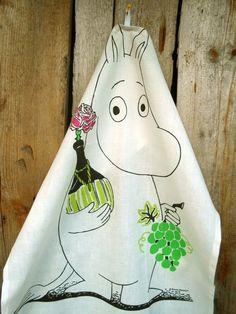 Hey, I found this really awesome Etsy listing at https://www.etsy.com/listing/151727227/tea-towel-moomin-linen-hand-kitchen