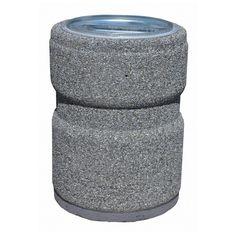kosze betonowe, kosze na śmieci, kosze na smieci, mała architektura miejska, Kosz okrągły 26 litrów z przetłoczeniem.