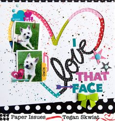 Paper Issues: Colorful Fun with the Love Script Heart Cut File @lovestoscrap123