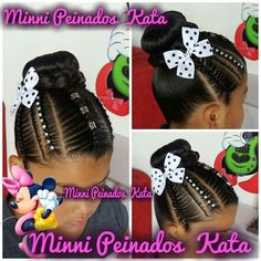 #minnipeinadoskata #peinadosparaniñas #peinadosinfantiles #donnas#peinadosrecojidos#medellincolombia #sancristobalmedellin Black Kids Hairstyles, Girls Natural Hairstyles, All Hairstyles, Kids Braided Hairstyles, Flower Girl Hairstyles, Different Hairstyles, Little Girl Hairstyles, Natural Hair Styles, Children Hairstyles