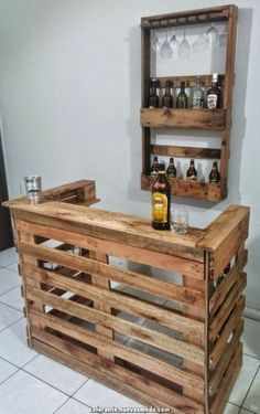 The pallet ought to be in a position to support the weight of your bike and ought to have slits on each side so that it can be lifted by means of a fo. diy bar Wonderful Pallet Furniture Ideas and Tips to Make Your Happy