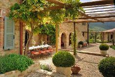 Castello di Reschio, Umbria, Italy. So warm and welcoming.