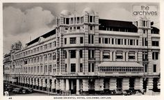 A picture post-card showing Grand Oriental Hotel, Colombo, Ceylon as it was seen in mid 1950's. Photographer unknown.