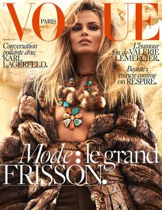 Natasha Poly plays free spirit for Mert & Marcus on the cover of Vogue Paris September 2015 [cover]