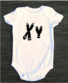 XY chromosome MALE boy baby onesie science nerdy geeky funny on Etsy, $14.50
