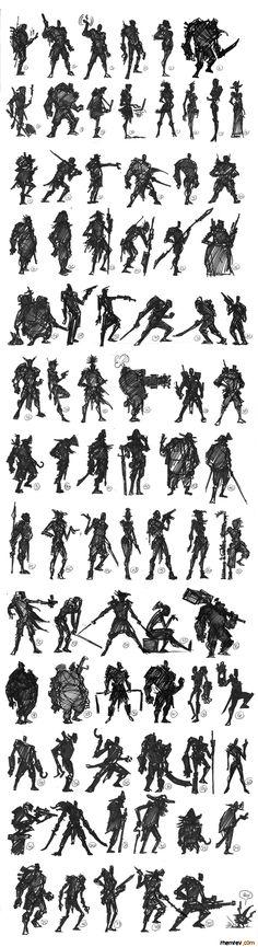 RHEMREV.COM | Visual development: Character Thumbnails