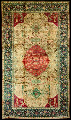 Persian pictorial rug- love the colors