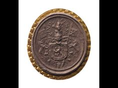 Brown sulphur cast of the Four Signet Seal of Mary, Queen of Scots, depicting a unicorn on the royal arms, c. 1567.