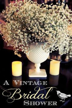 Vintage Bridal Shower by Little Maison - French cafe theme