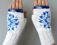 Hand Knitted Fingerless Gloves Gloves   by nbGlovesAndMittens 15545365b5c