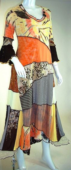 Cocoa and Mango Long Patchwork Cotton Jersey Dress, Size Small-Medium (8-10-12) by brendaabdullah, via Flickr