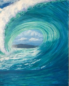 Acrylic on canvas by Newport Loft Surf Art – Holiday and camping ideas Ocean Art, Ocean Waves, Wave Art, Tropical Art, Surf Art, Beach Art, Acrylic Art, Painting Inspiration, Watercolor Art