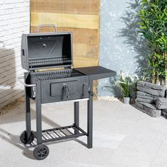 Rolling Barbecue Grill Garden Party Meat Cooking Charcoal Trolley BBQ Outdoor