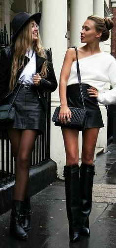 Leather Mini and Chanel Style