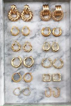Ear Jewelry, Cute Jewelry, Jewelery, Jewelry Accessories, Jewelry Design, Women Jewelry, Fashion Jewelry, Style Fashion, Fancy Jewellery