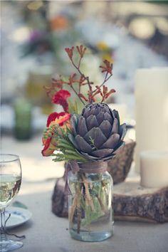 Mason jars & artichokes