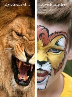 Löwe schminken Kinderschminken