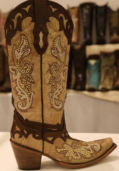 Rivertrail Mercantile - Corral Crackle Bone Tan Studs Boots C2825, $299.99 (http://www.rivertrailmercantile.com/corral-crackle-bone-tan-studs-boots-c2825/)