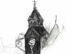 'Zwart bevroren toren'