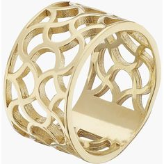 Tartesia Galiana Wide Ring Gold ($170) ❤ liked on Polyvore featuring jewelry, rings, wide rings, handcrafted jewellery, handcrafted jewelry, handcrafted gold jewelry and handcrafted gold rings