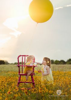 Tishy Photography {child photographer} | Flickr - Texas Wildflowers, Austin, Birthday balloons, Smash Cake