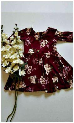 Burgundy floral dress, toddler dress, toddler floral dress, vintage floral dress #easterdress #easter #toddler #affiliate