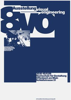 8vo. Exhibition poster, 1989. From 8vo On the Outside, Lars Müller, 2005