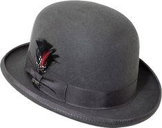 Mens Scala Derby WF506 - Charcoal Hats $53.95 AT vintagedancer.com