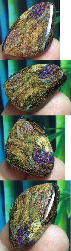 Boulder Opals 181111: 37Ct Australian Boulder Opal Opalized Wood Vegetation Fossil Stone ~ Zen Opals -> BUY IT NOW ONLY: $52.5 on eBay!