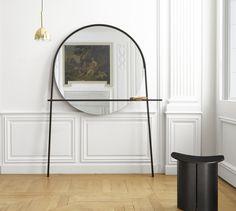 spiegel und stummer diener geoffrey design alain gilles fur ligne roset spiegel mit ablage